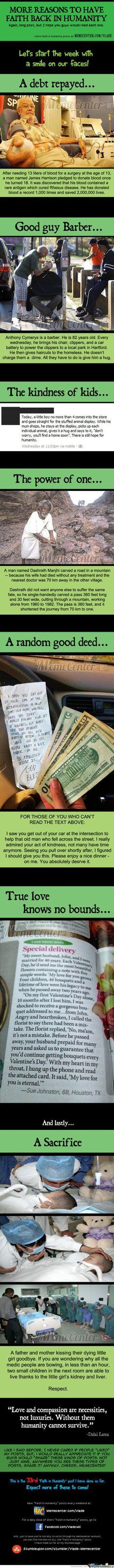 These brought tears to my eyes. Faith In Humanity #33