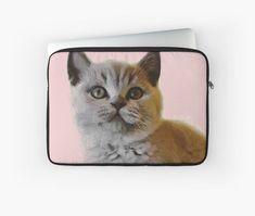 'El gatito gris, from Léa Roche paintings - Chat, cat, gato' Housse de laptop by LEAROCHE Telephone, Laptop, Paintings, Iphone, Cats, Grey Cats, Kitty, Gatos, Paint