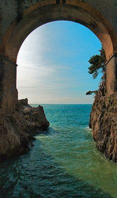 Doorway to the sea - Ocean Archway on the Amalfi Coast, Italy