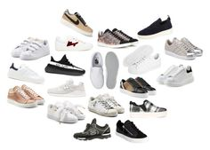 """""""WISHES: sneakers"""" by victoriaandersen ❤ liked on Polyvore featuring Puma, Ash, adidas Originals, adidas, New Balance, Golden Goose, Chanel, Vans, Burberry and Isabel Marant"""