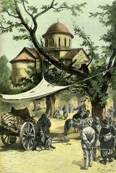 "The illustrated Jules Verne ""Kéraban-le-têtu"" 103 illustrations by Léon Benett. Jules Verne, Science Fiction, Ancient Book, Amiens, Book Illustrations, Conte, Les Oeuvres, Sci Fi, Adventure"