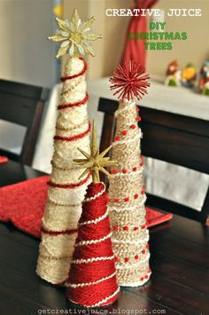 step by step yarn christmas tree tutorial with photos - how to make a yarn christmas tree for your home. easy and beautiful christmas tree for the holiday season using yarn, styrofoam cones and ornaments