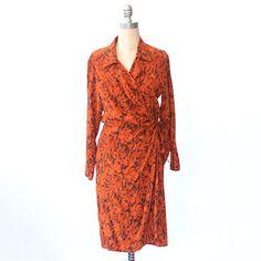 Burnt Orange Silk Dress, $72, now featured on Fab.