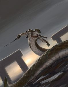 Merrshaulk, God of Yuan-Ti Fantasy Races, High Fantasy, Fantasy World, Fantasy Art, The Elder Scrolls, Fantasy Creatures, Mythical Creatures, Dojo, Dark Souls