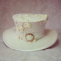 3/4 size wedding hat Riding top hat Victorian by OohLaLaBoudoir