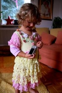 Lemon and Pink Dress - Roundup of 12 Gorgeous and FREE Crochet Dress Patterns for Girls!
