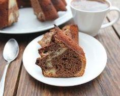 Gateau tarte marbre caramel chocolat