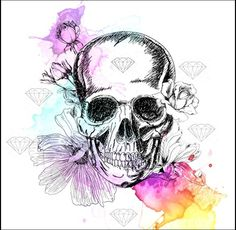 Tatto# Caveira# Diamante#