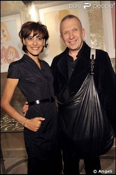 Jean paul Gaultier and Inés de la Fressange.