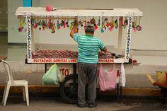 Mazatlan candy, nuts and trinket seller.