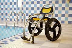 Poolpod | Wheelchair Swimming Pool LiftUniversal Design Style. >>> See it. Believe it. Do it. Watch thousands of spinal cord injury videos at SPINALpedia.com Modern Pools, Disability, Wheelchair Accessories, Pool Accessories, Swimming Pools, Aqua Chair, Wheelchairs, Spinal Cord Injury, Pool Chairs