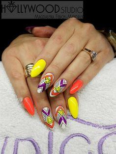 by Magdalena Fibich-Mendrek, Follow us on Pinterest. Find more inspiration at www.indigo-nails.com #nailart #nails #omg
