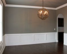 Coffered Ceiling And Wainscotting Dining Room H O M E