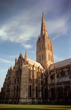 Salisbury Cathedral, Wiltshire, England. I love walking around here. Very lucky to live here :)