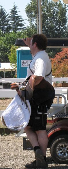 Horse show dad.
