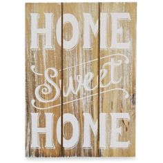 New View Tan Home Sweet Home Plaque (€4,58) ❤ liked on Polyvore featuring home, home decor, tan and rustic home decor