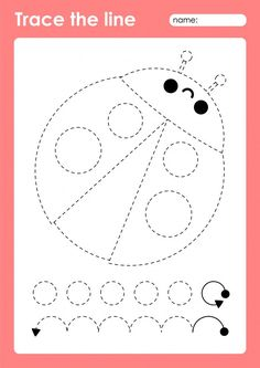 Ladybug - tracing lines preschool worksh... | Premium Vector #Freepik #vector #animal #line #drawing #kindergarten Kindergarten Drawing, Number Worksheets Kindergarten, Printable Preschool Worksheets, Free Preschool, Worksheets For Kids, Kindergarten Activities, Preschool Activities, Color Activities For Toddlers, Drawing Activities