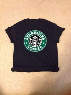 Starbucks logo shirt by SnowsApparel on Etsy