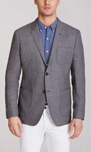 Unconstructed Blazer Slim - Lightweight Italian Wool - Grey