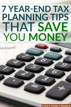 the end of the year is a good time to start analyzing your tax situation