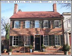This historic building is currently the location of the Georgian House Bed & Breakfast on Duke of Gloucester Street in Annapolis Maryland. Photograph taken on March 6th 2012. To see a full size version of this photograph and the Annapolis Experience Blog article click on the Visit Site button. Image and article Copyright © 2015 G J Gibson Photography LLC.