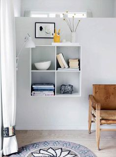 Wood Box Shelves, Wood Boxes, Montana Furniture, House Inside, Scandinavian Interior, Interior Inspiration, Home Office, Shelving, Bookcase