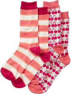 Women's Patterned-Sock 2-Packs | Old Navy