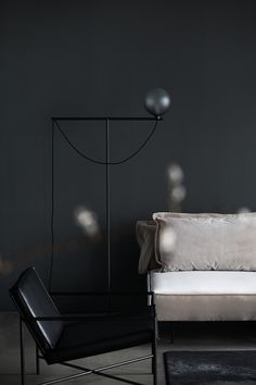 The iconic Studio Lamp series, designed by Laura Bilde, and the Globe Light series, designed by Emil Thorup, are part of the permanent lighting. Studio Lamp, Globe Lights, Danish Design, Floor Lamp, Furniture Design, Photoshoot, Lighting, Chair, Store