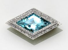 BELLE ÈPOQUE AQUAMARINE AND DIAMOND BROOCH, J.E. CALDWELL Diamond Brooch, Belle Epoque, Brooches, Fine Jewelry, Brooch, Jewelry