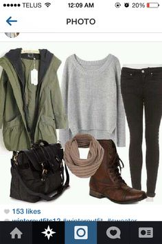 Winter outdoors outfit