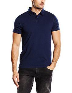 ESPRIT Herren Poloshirt aus Baumwoll Jersey, Gr. Medium, Blau (BLUE 430)