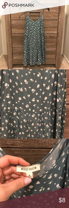 Green and cream dress Fun and loose sundress that is so cute on. In great condition. Dresses