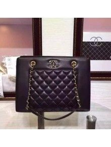 Chanel Black Lambskin Shopping Bag Fall-Winter 2015/16