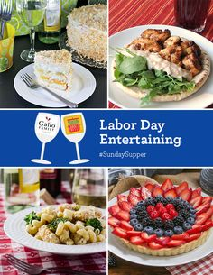Five Fruity Wine Spritzers Plus Labor Day Entertaining Recipes #SundaySupper with Gallo Family Vineyards. #GalloFamily