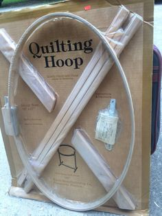 Quilting Hoop Oval Frame with Stand USA Ward Manufacturing NIB Handmade wooden  #WardManufacturing