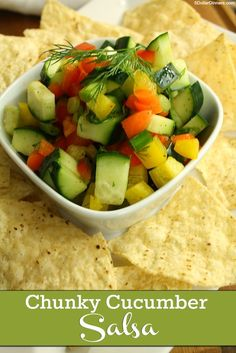 Chunky Cucumber Salsa ~ a clean eating, paleo/whole30 friendly recipe| 5DollarDinners.com