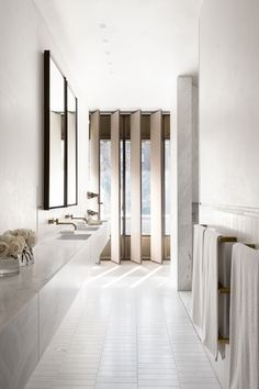 More beautiful bathing retreats. This chic space is one of the five finalists in the Belle Coco Republic Interior Design Awards Bathroom Design category. It was designed by Smart Design Studio and shot by Sharrin Rees.
