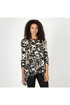 Designer natural abstract animal print top by Star By Julien Macdonald :: Clozette Shoppe  http://shoppe.clozette.co/product/debenhams-3108779535/designer-natural-abstract-animal-print-top