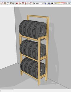 Picture of Cheap and easy to build tire rack