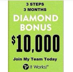 First bonus, how would your life change?