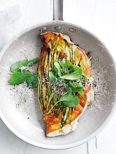 Asparagus And Ricotta Souffle Omelette by Donna Hay (or use rocket leaves)