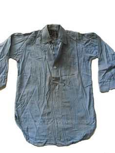 This PRESIDENT GUARANTEED WORK SHIRT was manufactured by The President Shirt Co. in Baltimore, Md sometime around 1911