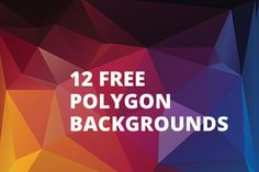 12 Free Polygon Backgrounds