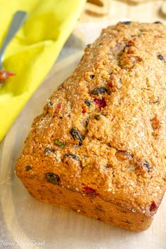 Apr 2019 - This coconut based bread would leave you rushing for another slice. A sweet bread filled with raisins, dried fruits, and spices. Perfect to be eaten… Trinidadian Recipes, Guyanese Recipes, Jamaican Recipes, Guyanese Fruit Cake Recipe, Guyanese Bake Recipe, Coconut Recipes, Baking Recipes, Dessert Recipes, Bread Recipes