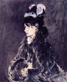 The Athenaeum - MANET, Edouard French Realist-Impressionist (1832-1883)_Berthe Morisot- circa 1869