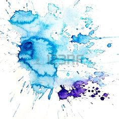 Watercolor Blue Splash