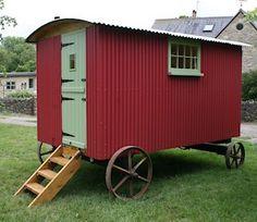 Restored hut by Cotswolds Shepherds Huts