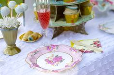 Our Baby Shower Garden Party is filled with decorating ideas for any Spring Party from a floral backdrop to a floral dessert table. Tea Party Theme, Floral Backdrop, Spring Party, Party Plates, For Your Party, Baby Shower Parties, Dessert Table, Baby Shower Invitations, Party Time