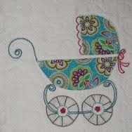 Image result for free motion machine embroidery pram