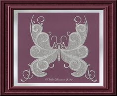 All Things Parchment Craft: Paisley Lace Parchment Craft Butterfly
